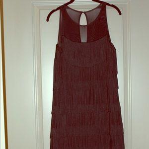 WHBM Black Fringe Dress - Never been worn